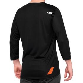 100% Airmatic Enduro/Trail 3/4 Jerseyaita Miehet, black/orange